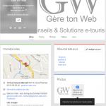 Page Google + Associée à une Google Adresse. Exemple avec Gère ton web à Ax les Thermes