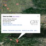 Google Adresse de Gère ton web à Ax les Thermes sur l'ancienne version de Google Maps