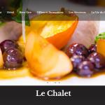 Page d'accueil du site le Chalet, réalisation Gère ton Web