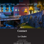 Page contact du site le Chalet, réalisation Gère ton Web