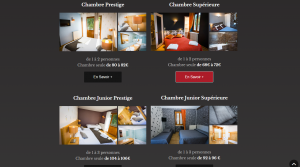 Page hôtell du site le Chalet, réalisation Gère ton Web
